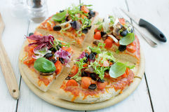 Gourmet pizza Royalty Free Stock Images