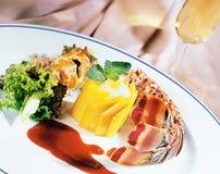 Gourmet plate stock photo