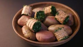 gourmet- platta arkivfoto