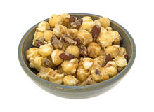 Gourmet popcorn with nuts in a bowl Stock Photos