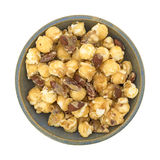 Gourmet popcorn with nuts in a bowl Stock Photo