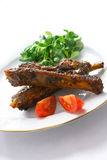 Gourmet pork ribs Royalty Free Stock Images