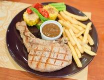 Gourmet pork steak Stock Photo