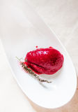 Gourmet raspberries and wine sorbet Royalty Free Stock Image
