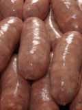 Gourmet raw sausages. Freshly made gourmet raw sausages Royalty Free Stock Photography
