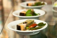 Gourmet- restaurangmat arkivfoton