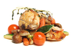 Gourmet restaurant food, chicken with vegetables Stock Image