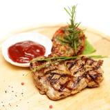 Gourmet restaurant food - steak Royalty Free Stock Photography
