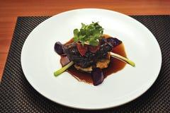 Gourmet restaurant meal Stock Photos