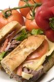 Gourmet roast beef sandwich Stock Image