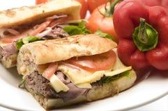 Gourmet Roast Beef Sandwich Stock Photos