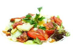 Gourmet salad with bacon Stock Photography