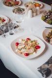 Gourmet salad at the Banquet Stock Photos