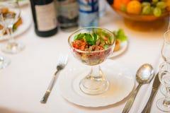 Gourmet salad at the Banquet Stock Image