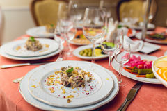 Gourmet salad at the Banquet Stock Images