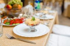Gourmet salad at the Banquet Stock Photo