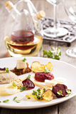 Gourmet salad with beet and herring Stock Images