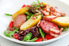 Gourmet salad in Cannes Stock Photography