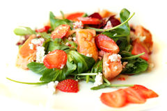 Gourmet salad. Food restaurant background Stock Photo