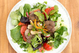 Gourmet salad with liver Royalty Free Stock Photo