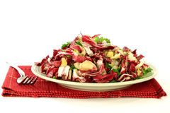 Gourmet Salad from Radicchio, Endive and seasonings Stock Image