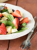 Gourmet salad with strawberries and cheese Stock Photo