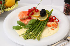 Gourmet Salmon Meal Royalty Free Stock Photography