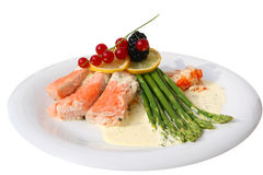 Gourmet Salmon Meal Stock Image
