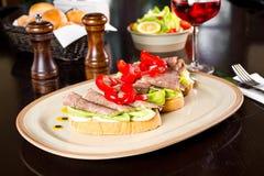 Gourmet sandwich Royalty Free Stock Photos