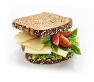 Gourmet Sandwich. Tasty gourmet sandwich in whole grain bread Royalty Free Stock Images