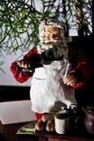 Gourmet Santa Claus mycket av glädje arkivbild