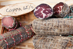 Gourmet sausage coppa Royalty Free Stock Photos