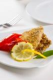 Gourmet schnitzel Royalty Free Stock Image