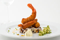 Gourmet seafood dish Royalty Free Stock Images