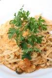 Gourmet Seafood Pasta Stock Image