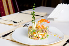 Gourmet seafood and vegetable appetizer Royalty Free Stock Photo