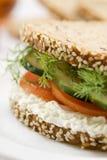 gourmet- smörgås Arkivbild