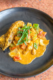 Gourmet spice curry rock lobster. Gourmet spice curry rock lobster with salted egg Stock Photography