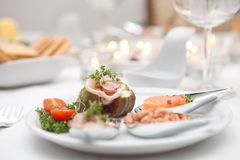 Gourmet starter Royalty Free Stock Photo