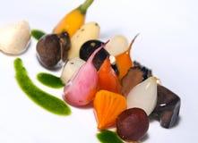 gourmet- startknappvegetarian för maträtt arkivfoto