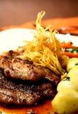 gourmet- steak Fotografering för Bildbyråer