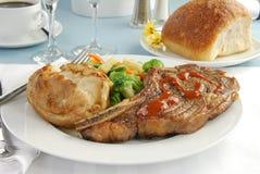 Gourmet steak dinner Stock Photography