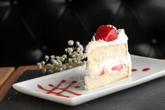 Gourmet Strawberry Shortcake Royalty Free Stock Photo