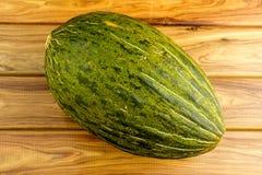 Gourmet studio shot of green santa claus sapo melon Stock Photo