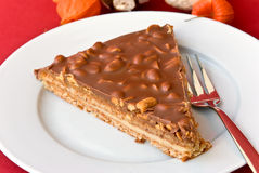 Gourmet swedish tart with roasted almonds Stock Photography