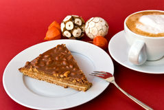 gourmet swedish tart with roasted almonds and cap Stock Images
