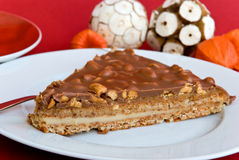 Gourmet Swedish Tart With Roasted Almonds And Cap Royalty Free Stock Photo