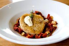 Gourmet swordfish dish Royalty Free Stock Photography
