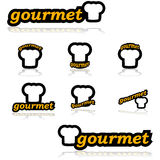 Gourmet- symboler Arkivbilder