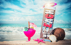 Gourmet tropical icecream dessert Royalty Free Stock Image